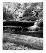 Waterfalls Mill Black N White Fleece Blanket