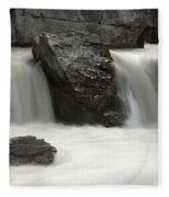 Waterfalls On Nigel Creek Fleece Blanket