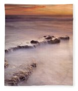 Waterfalls On The Rocks Fleece Blanket