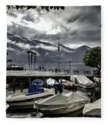 Waterfront At Ascona Fleece Blanket