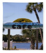 Waterfront Cafe Fleece Blanket