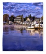 Waterfront Morning Fleece Blanket