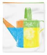 Watering Can Pop Art Fleece Blanket