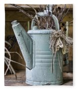 Watering Can Pot Fleece Blanket