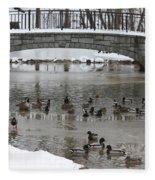 Watering Hole Ducks Only Fleece Blanket