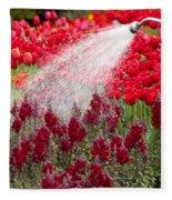 Watering The Garden Fleece Blanket