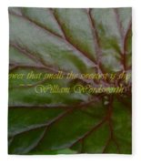 Waterlily Leaf Macro Fleece Blanket