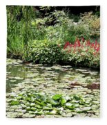 Waterlily Pond Giverney Fleece Blanket