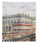 Waterloo Place And Pall Mall Fleece Blanket