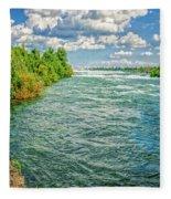 Waters Feeding Niagara Falls Fleece Blanket