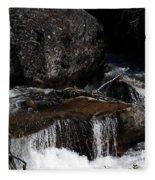 Water's Flow Fleece Blanket