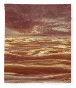 Waterscape Number Seven Fleece Blanket