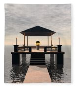 Waterside Gazebo Fleece Blanket