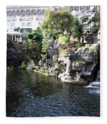Waterway View Inside The Opryland Hotel In Nashville Tennessee In 2009 Fleece Blanket