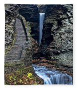 Watkins Glen Central Cascade Fleece Blanket