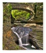Watkins Glen Waterfalls Fleece Blanket