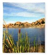 Watson Lake Arizona Fleece Blanket