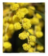 Wattle Flowers Australian Native Fleece Blanket