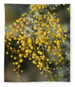 Wattle Flowers Fleece Blanket