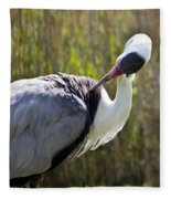 Wattled Crane Fleece Blanket