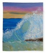 Wave At Sunrise Fleece Blanket