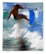Wave Rider Fleece Blanket