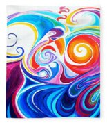 Wave Set Fleece Blanket