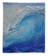 Wave Study Fleece Blanket