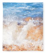 Wave Up Close Fleece Blanket