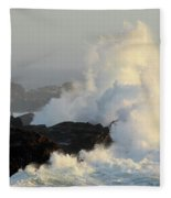 Waves At Salt Point Fleece Blanket