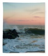 Waves At The Point West Cape May Nj Fleece Blanket
