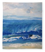 Waves At West Cape May Nj Fleece Blanket