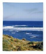 Waves Breaking On The Beach, Western Fleece Blanket