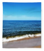 Waves In Motion Fleece Blanket