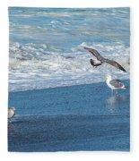 Waves In The Pacific Ocean, Point Reyes Fleece Blanket