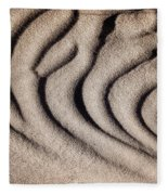 Waves Of A Desert - Mesquite Sand Dunes Fleece Blanket