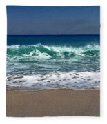 Waves Of Happiness  Fleece Blanket