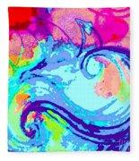Waves Of His Love Fleece Blanket