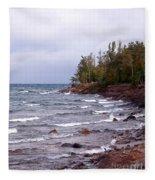 Waves Of Lake Superior Fleece Blanket