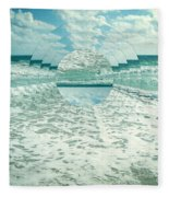 Waves Of Reflection Fleece Blanket