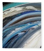Textured Waves Of Blue Fleece Blanket