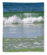 Waves Of The Gulf Of Mexico Fleece Blanket