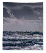 Waves, Reynisfjara, South Coast, Iceland Fleece Blanket
