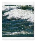 Waves Triptych Ll Fleece Blanket