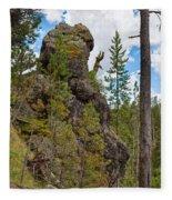 Waving Rock At Yellowstone Fleece Blanket