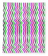 Wavy Stripe Fleece Blanket