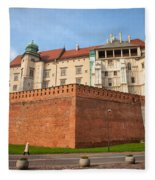Wawel Royal Castle In Krakow Fleece Blanket