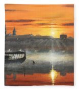 Wawel Sunrise Krakow Fleece Blanket