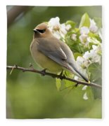 Waxwing In A Dream Fleece Blanket