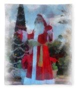 Wdw Santa Photo Art Fleece Blanket